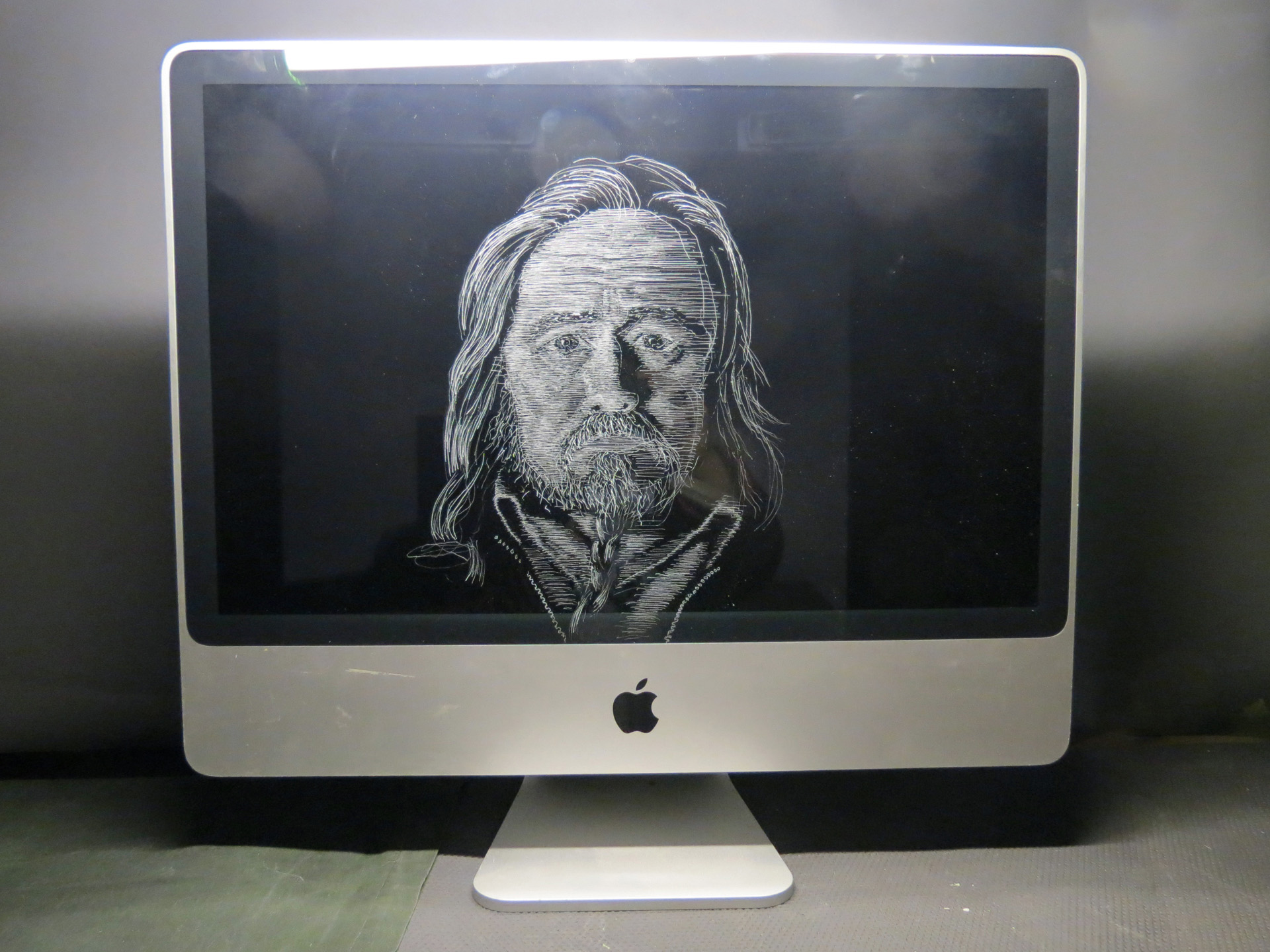 16 Self portrait on a computer (2020)